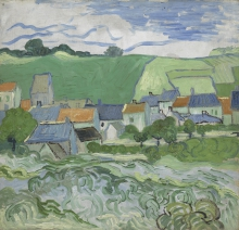 van Gogh, Veduta di Auvers | Gezicht op Auvers | Vue d'Auvers | View of Auvers