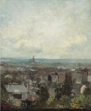 van Gogh, Veduta di Parigi nei dintorni di Montmartre | Vue de Paris aux environs de Montmartre | View of Paris around Montmartre