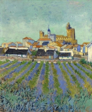 van Gogh, Veduta di Les Saintes Maries de la Mer | Gezicht op Saintes-Maries-de-la-Mer | Vue des Saintes-Maries-de-la-Mer | View of Saintes-Maries-de-la-Mer