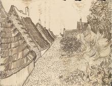 van Gogh, Via a Les Saintes Maries de la Mer | Rue aux Saintes-Maries-de-la-Mer | Street in Saintes-Maries-de-la-Mer