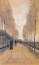 van Gogh, Viale alberato   Allée bordée d'arbres   Tree-lined road