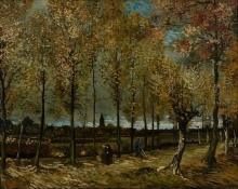 van Gogh, Viale di pioppi a Nuenen | De populierenlaan bij Nuenen | The poplar walk at Nuenen