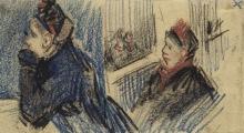 van Gogh, Due donne in un palco | Twee vrouwen in een loge | Deux femmes dans une loge