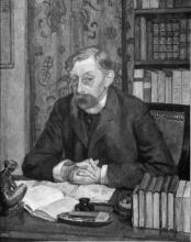 Théo van Rysselberghe, Ritratto di Emile Verhaeren, poeta belga [1855-1916]   Portrait d'Emile Verhaeren, poète belge [1855-1916]