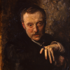 John Singer Sargent, Ritratto di Antonio Mancini, 1898-1902, olio su tela, cm. 67 x 50, Gall. Naz. Arte Moderna, Roma