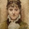 Marcellin-Gilbert Desboutin, Ritratto di Berthe Morisot, 1880 circa, Olio su tela, cm. 41 x 33, Kunsthalle Bremen
