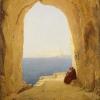 Carl Blechen (Cottbus 1798 – 1840 Berlin): Grotte am Golf von Neapel (Grotta sul golfo di Napoli), 1830 circa, Olio su tela, cm. 37,5 x 29, Köln, Wallraf-Richartz-Museum