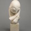 Constantin Brancusi, Mademoiselle Pogany [I], 1912, Marmo bianco e blocco di calcare, cm. 44,4 x 21 x 31,4,  cm. 15,2 x 16,2 x 17,8 (base), Philadelphia Museum of Art, inv. n. 1933-24-1, dono di Mrs. Rodolphe Meyer de Schauensee, 1933