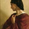 Anselm Feuerbach (Speyer 1829 – 1880 Venezia): Nanna, 1861, Olio su tela, cm. 73,5 x 55,5, Köln, Wallraf-Richartz-Museum, Acquisto 1929, WRM 2372