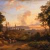 Giacinto Gigante (Napoli 1806 - Napoli 1876): Tramonto a Bacoli, 1840 circa, Olio su tela, cm. 50 x 69, Collezione d'Arte della Banca d'Italia