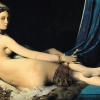 Jean Auguste Dominique Ingres (Montauban 1780 - Parigi 1867): Un'odalisca detta La grande odalisca, 1814, Olio su tela, cm. 91 x 162, Parigi, Musée du Louvre