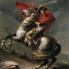 Jacques Louis David (1748-1825), Napoleone sull Gran San Bernardo   Napoleon am Großen St. Bernhard   Napoléon sur le Grand Saint-Bernard, 1801, Dipinto, Olio su tela, cm. 275 x 232, Galerie Belvedere, Wien, inv. n. 2089
