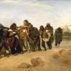 Ilya Efimovich Repin (1844-1930): Battellieri del Volga, 1872, Olio su tela, cm. 131,5 x 281, San Pietroburgo, Museo di Stato Russo