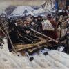 Vasily Ivanovich Surikov (1848-1916): Boyarynya Morozova, 1887, olio su tela, cm. 304 x 587, Mosca, Galleria Tretyakov