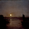 William Turner (Londra 1775 - Chelsea 1851): Moonlight, a Study at Milbank, esibito il 1797, Olio su legno di mogano, cm. 31,4 x 40,3, Londra, Tate