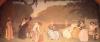 Edmond Aman-Jean, Ragazze che assistono a uno spettacolo teatrale all'aperto | Jeunes filles regardant un spectacle de théâtre en plein air | Girls watching an outdoor theater show, 1909, Musée des Arts Décoratifs, Paris, France