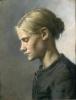 Anna Ancher, Una ragazza, Tine Normand (En ung pige, Tine Normand), 1880