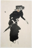 Bonnard, Donna con l'ombrello | Femme au parapluie | Woman with umbrella, 1895, Litografia su carta, 24,6 x 15,6, Gemeentemuseum, Den Haag, inv. n. 0015629