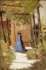 Odoardo Borrani, Passeggiata in giardino, 1866 circa
