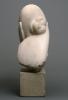 Brancusi, Mademoiselle Pogany [I][retro], 1912, Marmo bianco e blocco di calcare, cm. 44,4 x 21 x 31,4,  cm. 15,2 x 16,2 x 17,8 (base), Philadelphia Museum of Art, inv. n. 1933-24-1, dono di Mrs. Rodolphe Meyer de Schauensee, 1933