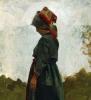 Stefano Bruzzi, Contadinella [dettaglio], XIX-XX secolo, Dipinto ad olio, Collezione Guagno-Poma, Museo del Territorio Biellese, Biella