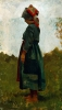 Stefano Bruzzi, Contadinella, XIX-XX secolo, Dipinto ad olio, Collezione Guagno-Poma, Museo del Territorio Biellese, Biella