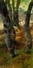 Stefano Bruzzi, Pecore nel bosco (Paesaggio con bosco di betulle), XIX secolo, Dipinto ad olio, Collezione Guagno-Poma, Museo del Territorio Biellese, Biella