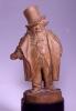 Adriano Cecioni, Caricatura di Napoleone Giotti, XIX secolo, 1882-1883, terracotta, cm. 27,8 di altezza, Firenze, Palazzo Pitti, Galleria d'Arte Moderna, Codice ICCD 09 00342198
