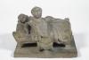 Adriano Cecioni, Due bambini che si svegliano, XIX secolo, terracotta, 19 x 25 x 18,5 cm, Collezione privata