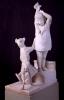 Adriano Cecioni, Incontro per le scale, XIX secolo, 1884-1886, marmo, cm. 116 di altezza, Firenze, Palazzo Pitti, Galleria d'Arte Moderna, Codice ICCD 09 00342189