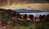 Giovanni (Nino) Costa, Paesaggio con effetto di sole, XIX secolo
