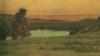 Giovanni (Nino) Costa,Tramonto sul lago di Albano, 1850 circa, Collezione privata