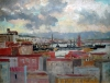 Giuseppe De Nittis, Vista del porto di Napoli, seconda metà del XIX secolo
