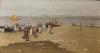 Achille Formis, Bassa marea, laguna di Pellestrina, 1897, Collezione privata