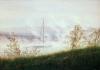 Friedrich, Riva di fiume con la nebbia.jpg