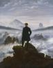 Caspar David Friedrich (Greifswald 1774 - Dresden 1840): Wanderer über dem Nebelmeer (Viandante sul mare di nebbia), 1817 circa, Olio su tela, 98 x 74,8 cm, Hamburg, Hamburger Kunsthalle