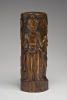Paul Gauguin, Hina con due assistenti | Hina with two attendants, 1892, Scultura in legno di tamano con  vernice d'oro, 37,1 x 13,4 x 10,8, Hirshhorn Museum and Sculpture Garden, Smithsonian Institution, Washington, DC, acquisto 1981, inv. n. 81.1