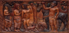 Paul Gauguin, La Guerra e la Pace: la Pace | La Guerre et la Paix: la Paix | War and Peace: Peace, 1901, Legno di tamanu dipinto, cm. 48,26 x 99,69, Museum of Fine Arts, Boston, inv. n. 63.2765