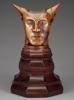 Paul Gauguin, Testa cornuta | Tête cornue | Head with horns, 1895 - 1897, cm. 22 x 22,8 x 12, scultura in legno, J. Paul Getty Museum, Los Angeles