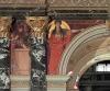 Gustav Klimt, Antichità greca | Griechische Antike, 1891, pittura murale incastonata sopra l'atrio nell'architettura a colonne e portici della scala del Kunsthistorisches Museum, Wien, inv. nr. Gemäldegalerie, AU C