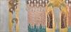 "Gustav Klimt, Beethovenfries: ""Die Künste"", ""Paradieschor"" und ""Umarmung"" (Tafel 8, rechte Langwand) | ""Le arti"", ""Coro del paradiso"" e ""Abbraccio"" (pannello 8, lungo la parete destra), cm. 215 x 481, Inv. n. 5987/8"