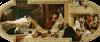 Gustav Klimt, Il Globe Theatre di Londra | Das Globetheater in London, 1886, Affresco, cm. 280 x 400, Burgtheater, Wien, Österreich