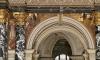 Gustav Klimt, Quattrocento romano e veneziano | Römisches und venezianisches Quattrocento, 1891, pittura murale incastonata sopra l'atrio nell'architettura a colonne e portici della scala del Kunsthistorisches Museum, Wien, inv. nr. Gemäldegalerie, AU B