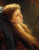 Ivan Nikolayevich Kramskoy (1837-1887): Ragazza con i capelli sciolti, 1873, olio su tela, cm. 57,2 x 48,9, Mosca, Galleria Tretyakov