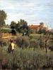 Silvestro Lega, Campagna con contadino fra il grano, 1872-1875, Dipinto