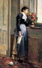 Silvestro Lega, Donna alla finestra, 1881, Dipinto
