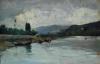 Silvestro Lega, L'Arno a Rovezzano, seconda metà del XIX secolo, Dipinto, Collezione privata