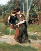 Silvestro Lega, La lettura nel bosco, 1888