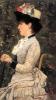 Silvestro Lega, La signorina Frediani in giardino, 1884, Dipinto