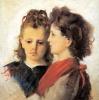 Silvestro Lega, Le due cugine, seconda metà del XIX secolo, Dipinto